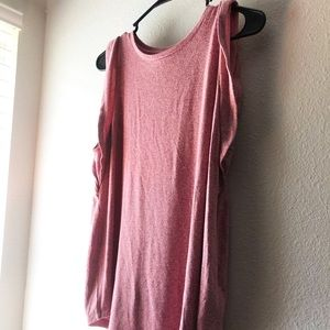 Old Navy pink sleeveless comfy casual blouse Sz M